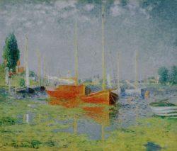"""Claude Monet """"Freizeitboote bei Argenteuil"""" 65 x 54 cm"""