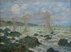 "Claude Monet ""Fischernetze in Pourville"" 81 x 60 cm"