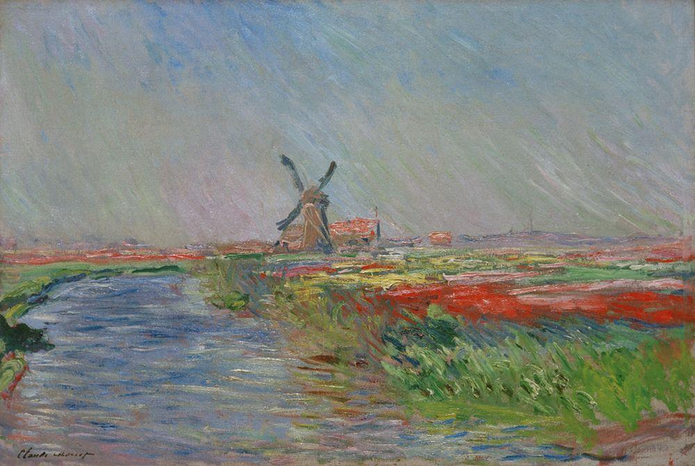 Kunstdruck Tulpenfeld in Holland von Monet Claude