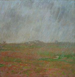 """Claude Monet """"Regen auf der Belle-Ile"""" 60 x 60 cm"""