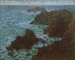 """Claude Monet """"Die Felsen von Belle-Ile  die wilde Küste"""" 81 x 65 cm"""