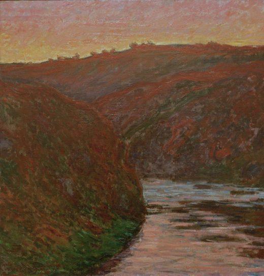 "Claude Monet ""Die Creuse bei Sonnenuntergang"" 70 x 73 cm 1"