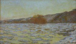 """Claude Monet """"Eisschollen im Dämmerlicht"""" 99 x 60 cm"""