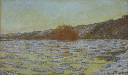 """Claude Monet """"Eisschollen im Dämmerlicht"""" 99 x 60 cm 1"""