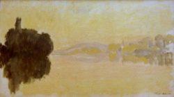 """Claude Monet """"Die Seine bei Porte-Villez"""" 92 x 52 cm"""