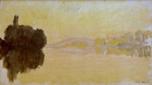 """Claude Monet """"Die Seine bei Porte-Villez"""" 92 x 52 cm 1"""
