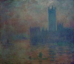 """Claude Monet """"Das Parlament Nebelstimmung"""" 92 x 81 cm"""