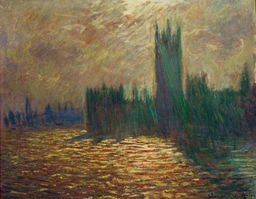 """Claude Monet """"Das Parlament  Spiegelungen in der Themse"""" 92 x 60 cm 1"""
