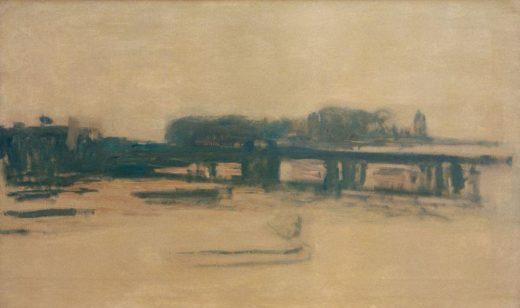 "Claude Monet ""Charing Cross Bridge"" 100 x 60 cm 1"