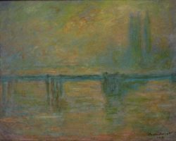 "Claude Monet ""Die Charing Cross Bridge im Nebel"" 92 x 73 cm"