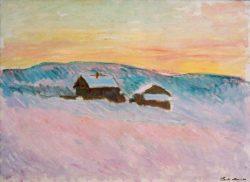 """Claude Monet """"Norwegische Landschaft"""" 84 x 61 cm"""