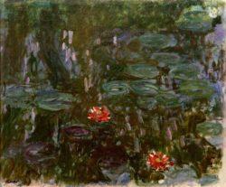 """Claude Monet """"Seerosen  Spiegelung von Trauerweiden"""" 155 x 131 cm"""