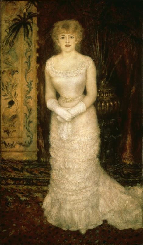 """Auguste Renoir """"Bildnis der Schauspielerin Jeanne Samary"""" 103 x 173 cm"""
