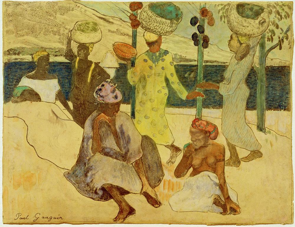 """Paul Gauguin """"Grillen und Ameisen""""  27 x 19 cm"""