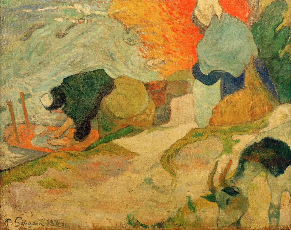 "Paul Gauguin ""Waschfrauen in Arles""  92 x 74 cm"
