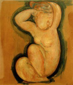 """Amedeo Modigliani """"Cariatide"""" 60 x 54""""cm"""