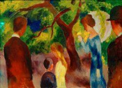 "August Macke ""Große Promenade: Leute im Garten"" 105 x 74 cm"