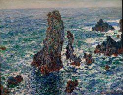 """Claude Monet """"Felspyramiden von Port-Coton bei rauher See"""" 81 x 65 cm"""