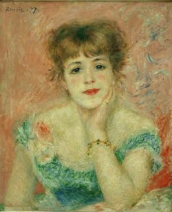 """Auguste Renoir """"Bildnis der Schauspielerin Jeanne Samary"""" 47 x 56 cm"""