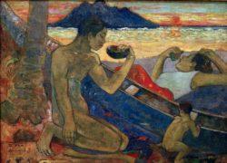 "Paul Gauguin ""Der Einbaum (Te Vaa)""  132 x 96 cm"