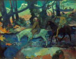 """Paul Gauguin """"Die Furt oder die Flucht (Le gue ou la fuite)""""  95 x 76 cm"""