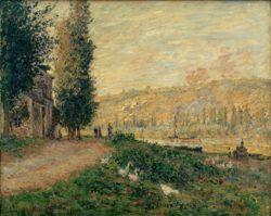 """Claude Monet """"Seineböschung bei Lavacourt"""" 80 x 61 cm"""