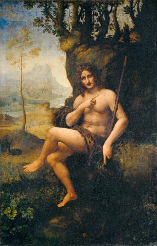 """Leonardo da Vinci """"Bacchus"""" 115 x 177 cm 1"""