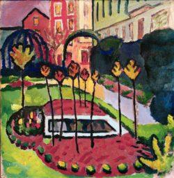 """August Macke """"Garten mit Bassin"""" 50 x 51 cm"""