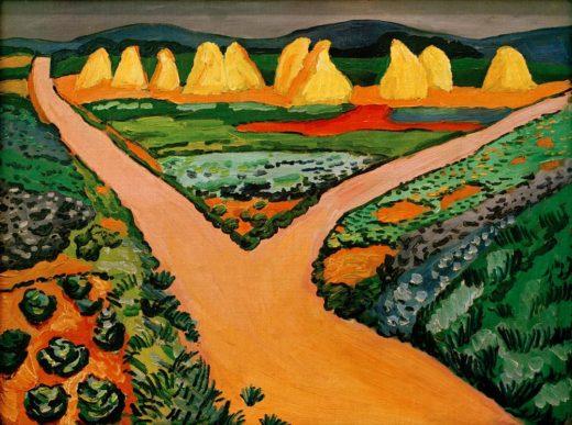 "August Macke ""Gemüsefelder"" 64 x 48 cm 1"