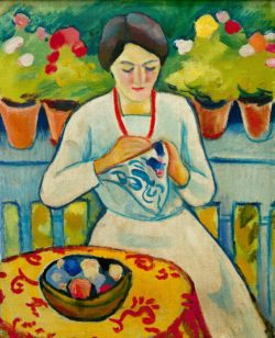 "August Macke ""Frau auf Balkon"" 48 x 61 cm"