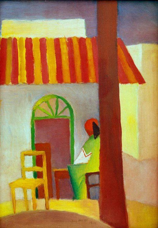 """August Macke """"Türkisches Cafe I"""" 25 x 36 cm 1"""