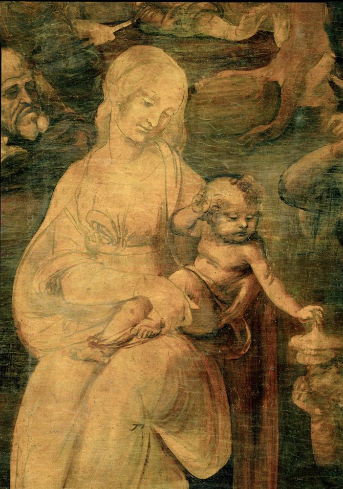 """Leonardo da Vinci """"Die Anbetung der Könige"""" 246 x 243 cm"""
