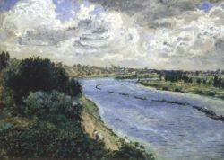 """Auguste Renoir """"Chalands sur la Seine"""" 64 x 47 cm"""