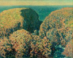 """Claude Monet """"Bloc de Rochers  Belle-Ile"""" 81 x 65 cm"""