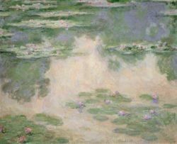 "Claude Monet ""Nympheas -Seerosen"" 102 x 82 cm"