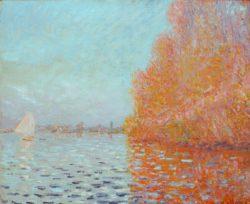 "Claude Monet ""Flußlandschaft im Herbst"" 65 x 55 cm"