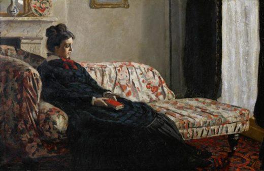 """Claude Monet """"Camille Monet die erste Frau des Künstlers-Meditation"""" 75 x 48 cm 1"""