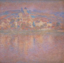 "Claude Monet ""Vetheuil untergehende Sonne"" 92 x 89 cm"