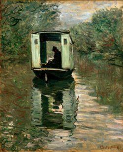 """Claude Monet """"Das Atelierboot"""" 59 x 72 cm"""