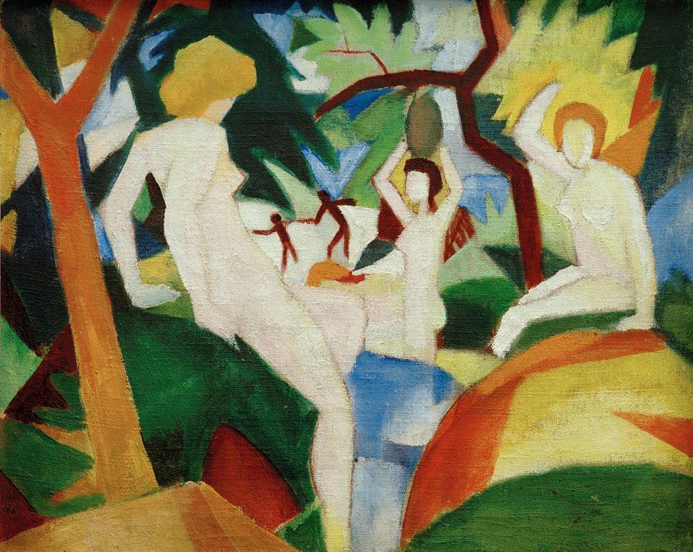 "August Macke ""Badende Frauen"" 74 x 60 cm"