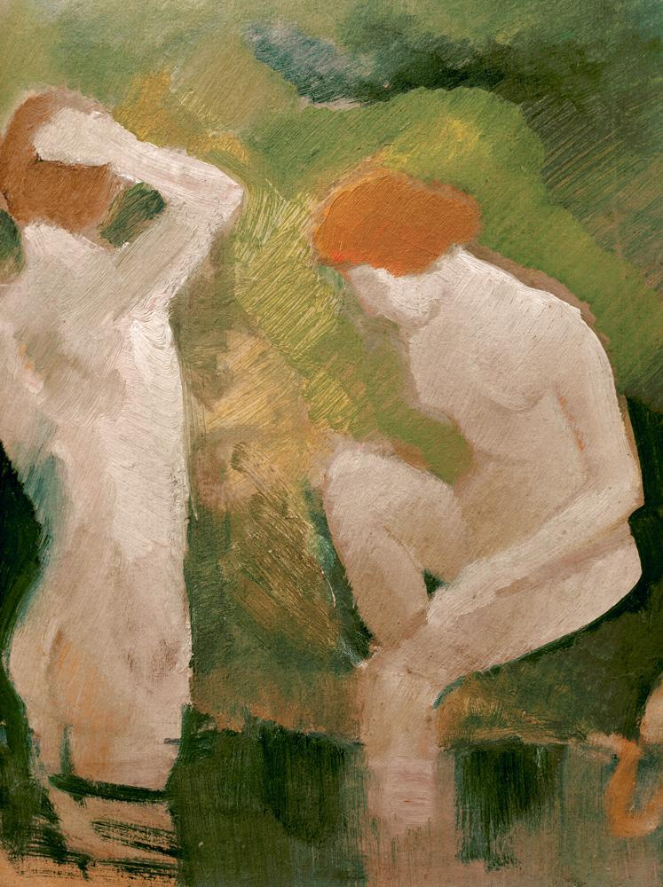 """August Macke """"Badende am grünen Abhang"""" 25 x 27 cm"""