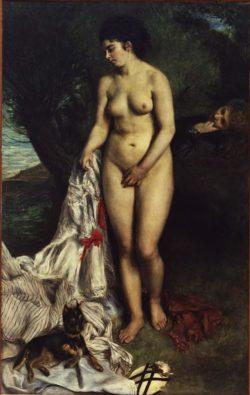 """Auguste Renoir """"Badende mit einem Pinscher"""" 115 x 184 cm"""