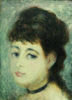 """Auguste Renoir """"Bildnis einer jungen Frau"""" 24 x 33 cm"""