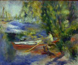 """Auguste Renoir """"Am Ufer eines Flußlaufes"""" 65 x 54 cm"""