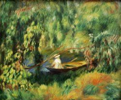 """Auguste Renoir """"Die Barke"""" 65 x 54 cm"""