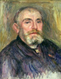 """Auguste Renoir """"Portrait du peintre Henry Lerolle"""" 35 x 46 cm"""