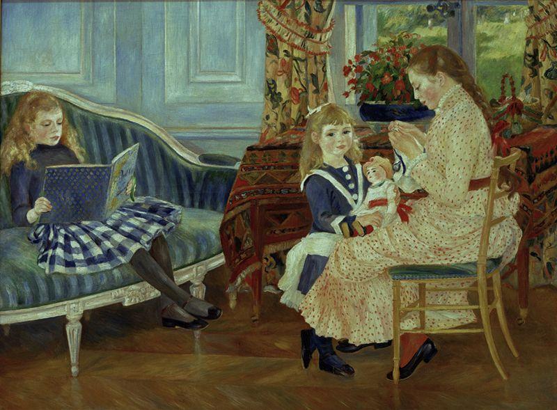 """Auguste Renoir """"Nachmittag der Kinder"""" 173 x 127 cm"""
