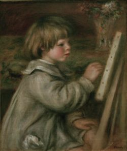 "Auguste Renoir ""Claude Renoir beim Malen"" 46 x 55 cm"
