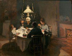 """Claude Monet """"Das Abendessen"""" 65 x 50 cm"""