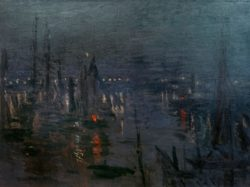 """Claude Monet """"Der Hafen von Le Havre bei Nacht"""" 81 x 60 cm"""